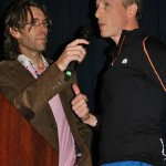Gerry Duffy in converstaion with Aidan Campbell at the Castleblayney 5k December 2012