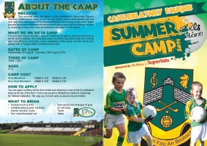 summer camp 2019 Brochure Front Page