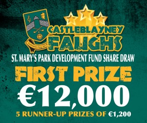 Castleblayney Faughs Share Draw - win 12000